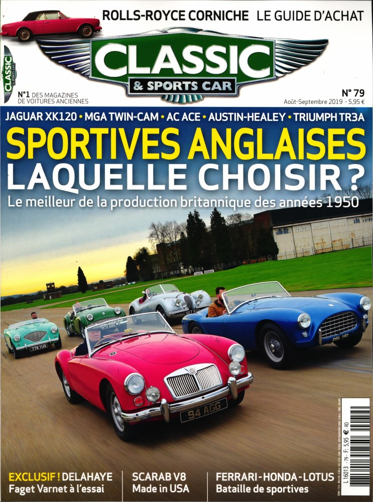 Abonnement Classic & Sports Car magazine