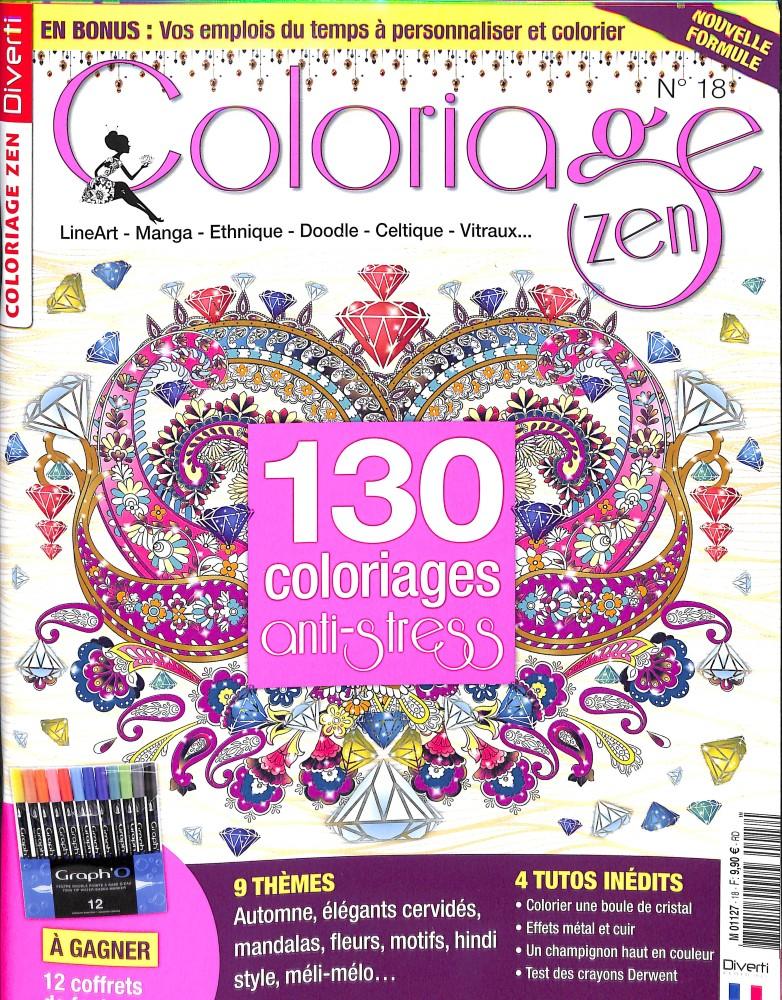 Coloriage Fleur Zen.Abonnement Coloriage Zen Magazine