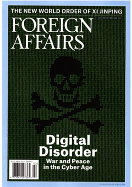 Abonnement Foreign Affairs (US) magazine
