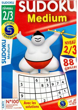 Abonnement Sudoku Medium niveau 2/3 magazine