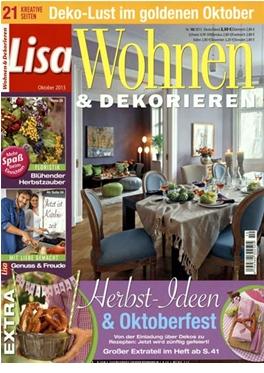 abo lisa wohnen und dekorieren magazin. Black Bedroom Furniture Sets. Home Design Ideas