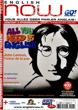 Abonnement English Now + CD magazine
