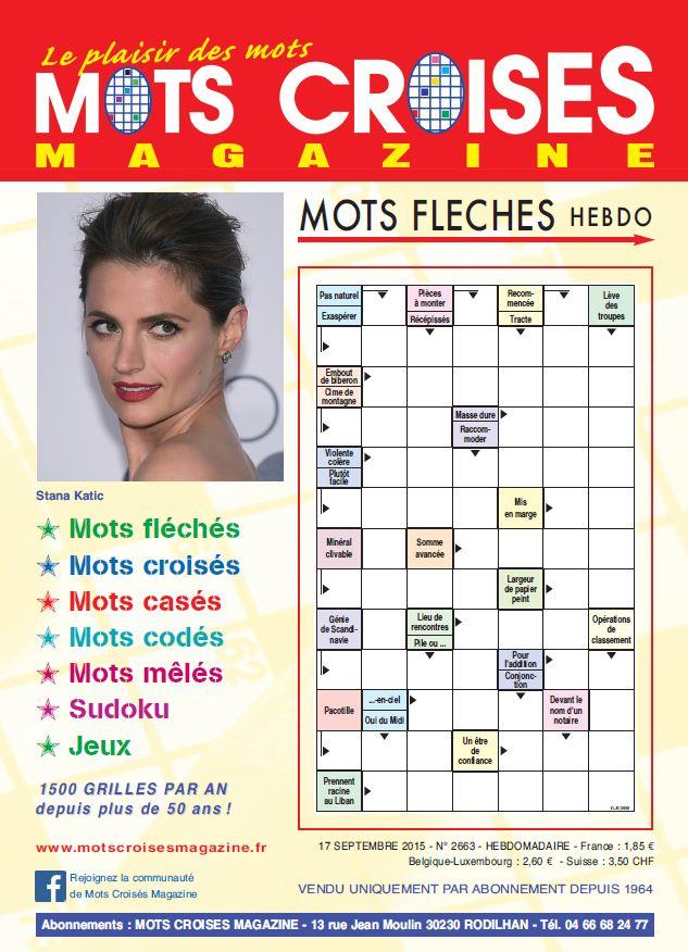 Abonnement mots crois s magazine magazine - Mots croises grille quotidienne ...